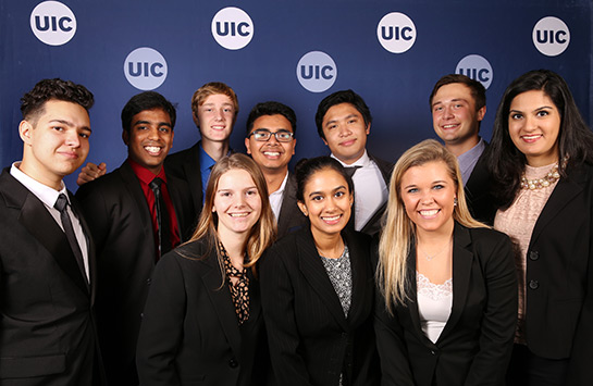 UIC Business students at Celebrating the College of Business Administration