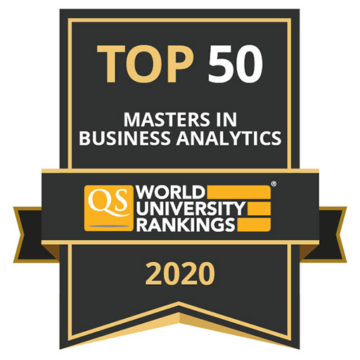 QS World University Rankings ranked UIC Business MS in Business Analytics ranks 36th