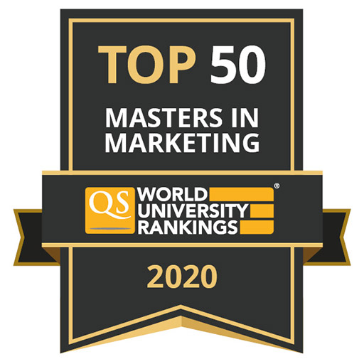 QS World University Rankings ranks UIC Business MS in Marketing Ranks 39th