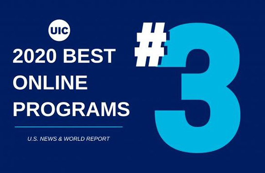 UIC climbs to No. 3 in U.S. News 2020 Best Online Programs rankings