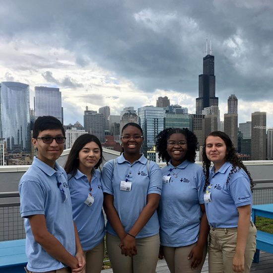 Students in the UIC Future Leaders in Business program