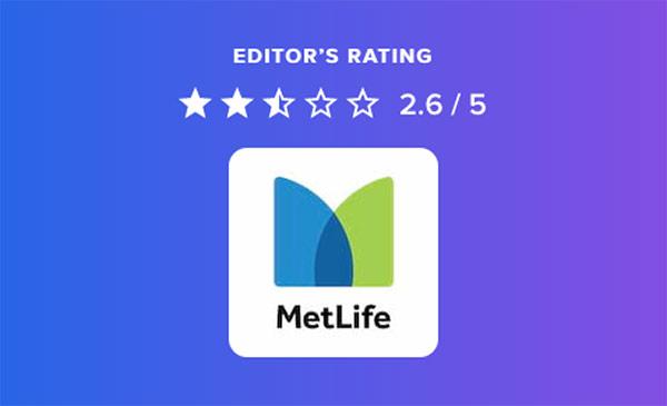 MetLife Editor's Rating 2.6/5